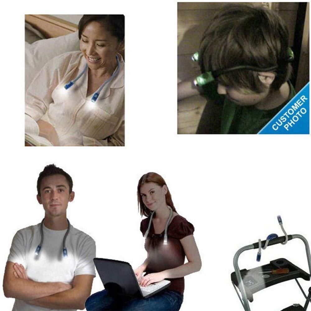 blendx LED Suspendue Cou lumi/ère Livre Lampe de Lecture /à Tricoter la Batterie de lumi/ère fonctionnant /à lext/érieur Rose