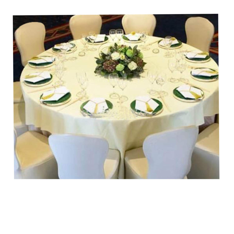 SPRINGROSE 50ホワイトScubaスパンデックスストレッチユニバーサルウェディングチェアカバー。It Is Made For使用on Folding and banquet椅子。   B07FS42HVJ