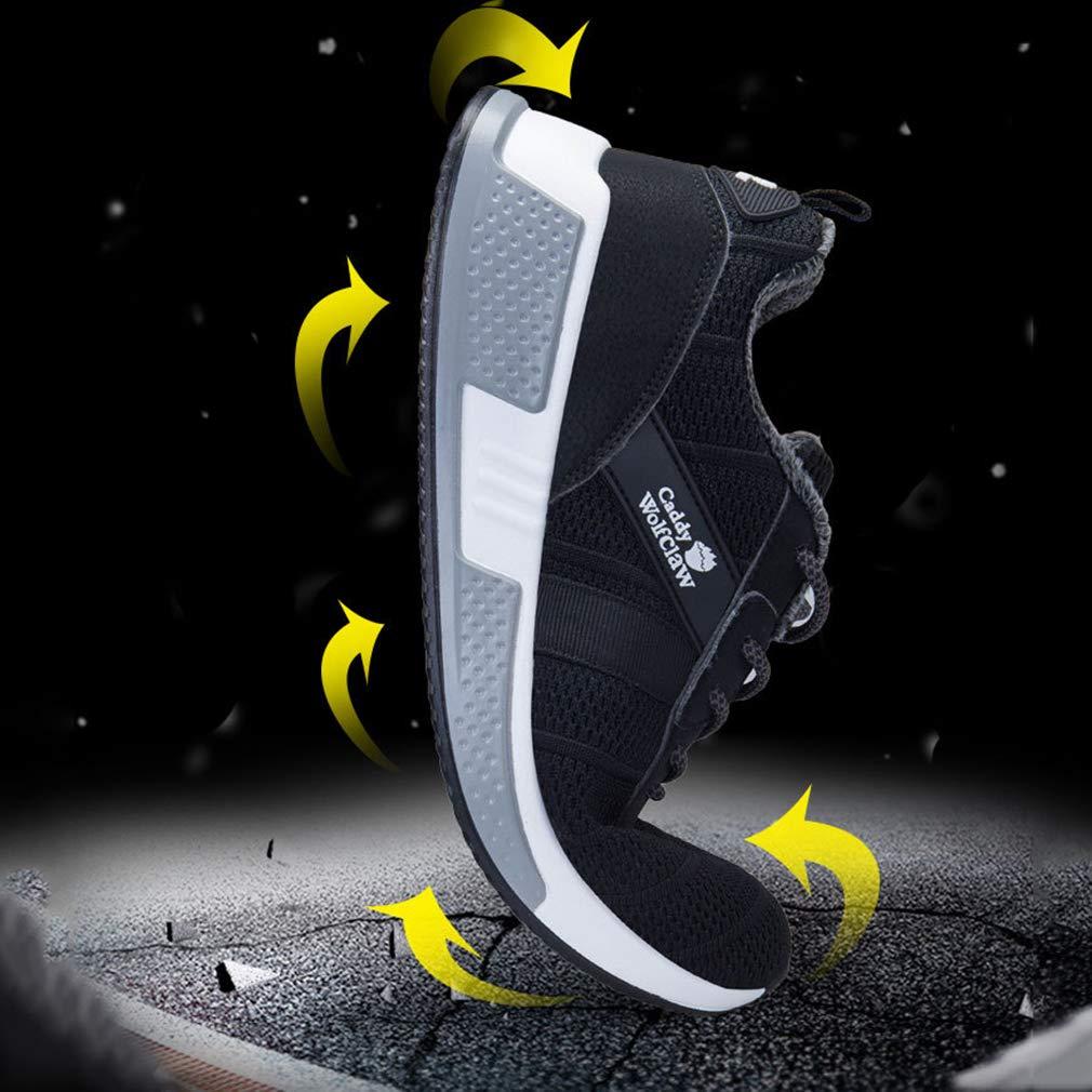 YAN Männersport Männersport Männersport Schuhe Gestrickte Winter Spitze Low-Top-Turnschuhe Plus SAMT Warmen Laufschuhen Lässig Täglich Wanderschuhe Fitness & Cross Trainingsschuhe,schwarz,41 f5de19