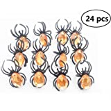 EBTOYS Spider Rings Halloween Party Favors,24 Pieces