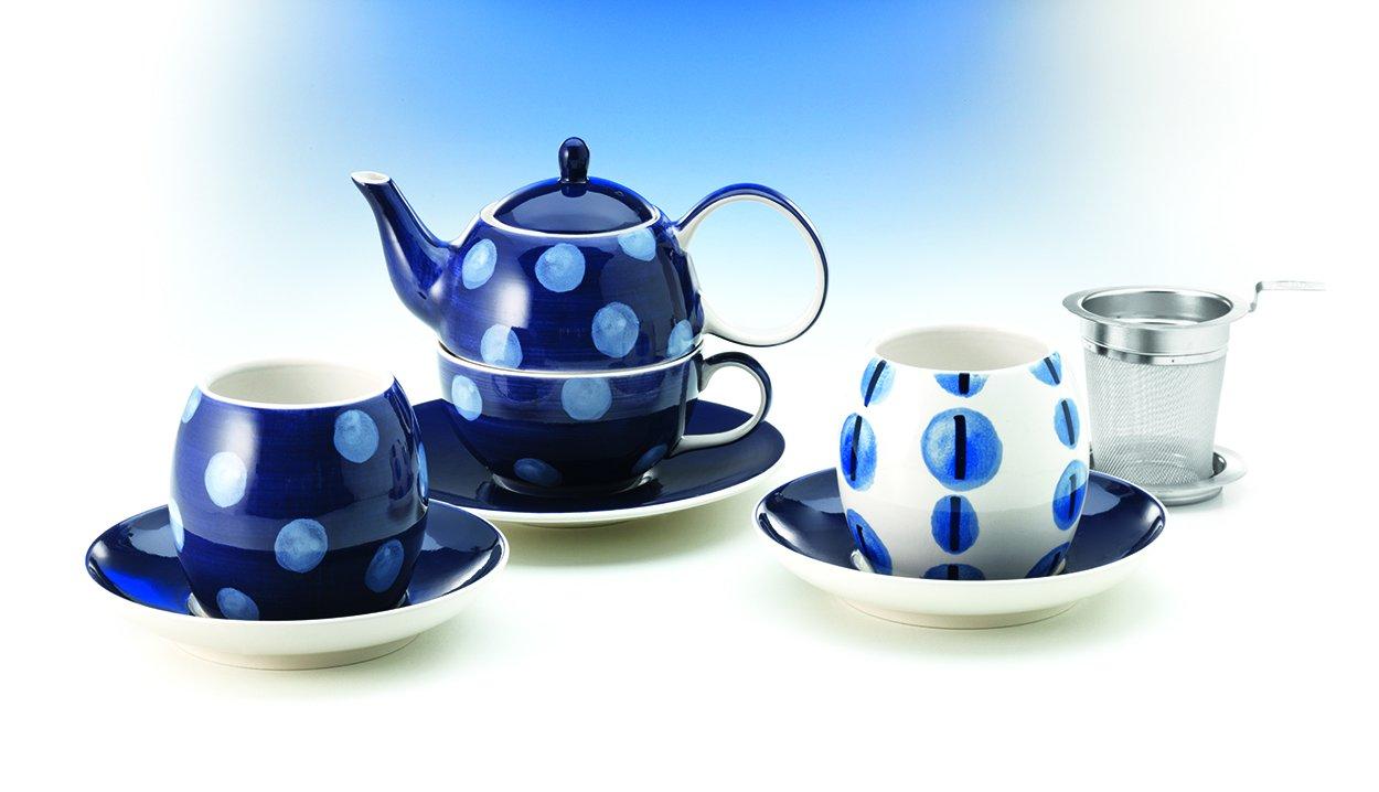 Tea for one Set 'Isaac' Keramik, 4-teilig Kanne: 0,4 l, Tasse: 0,2 l D&B