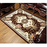 MeMoreCool European Style Rural Dornier Jacquard Rectangle Tea Table Carpet,Living Room /Bedroom Area Rug,Floral...