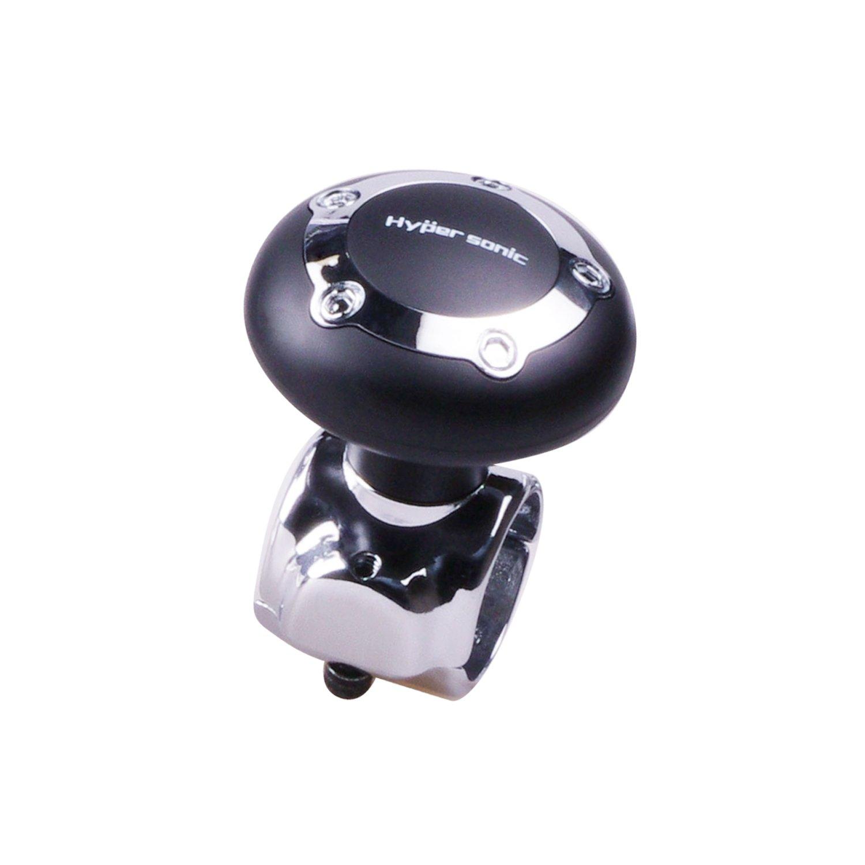 Hypersonic negro veh/ículo centrifugador de pomo de volante de coche mango