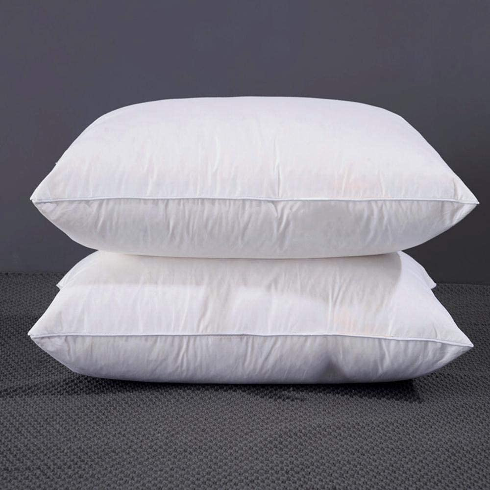 Pillow Down White Goose Down Luxury Star Hotel Goose Feather Pillow Confort del hogar Suave Cuidado del Cuello ...