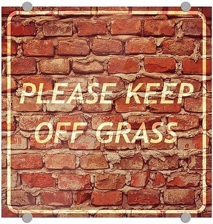 30x20 Basic Black Clear Window Cling Please Keep Off Grass 5-Pack CGSignLab