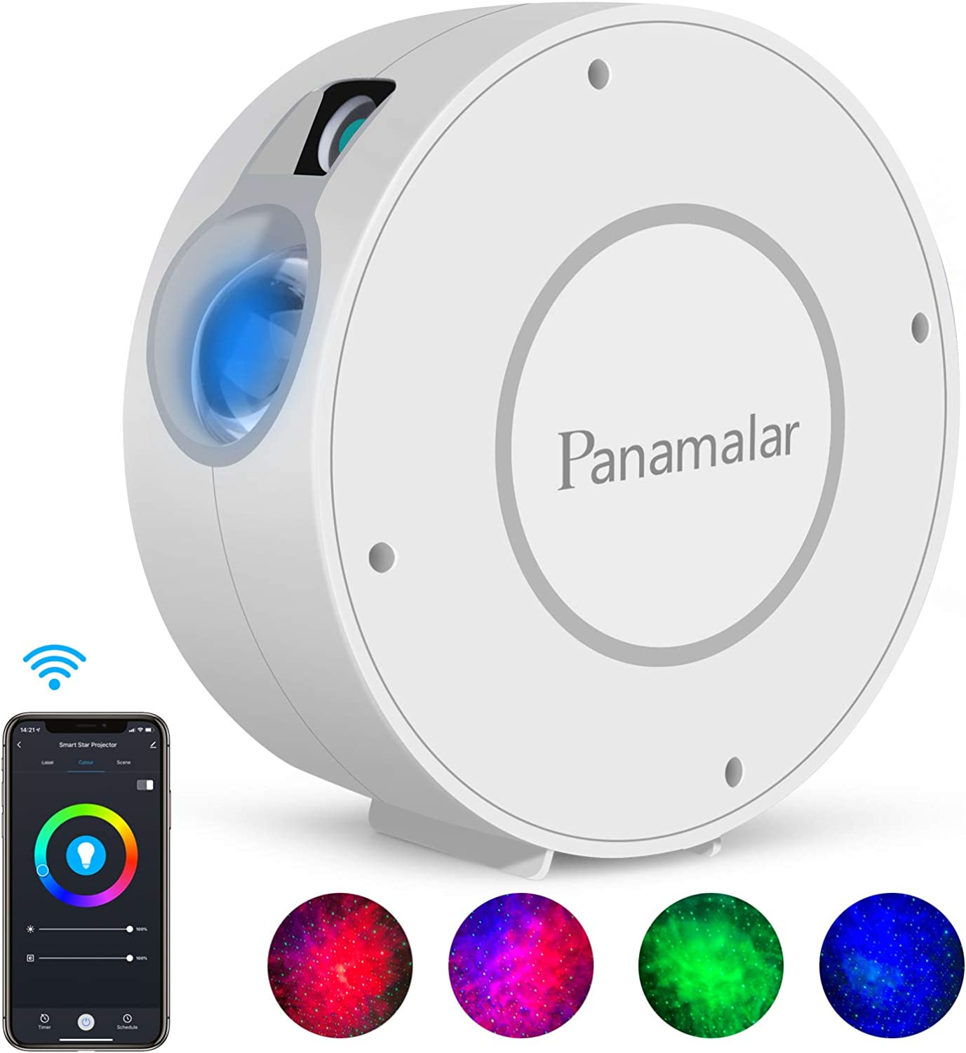 Panamalar Smart Star Projector, WiFi Galaxy Light Projector Nebula Cloud Projector with APP Control,Timer,Alexa Google Home Voice Control, Starry Sky Projector Night Light for Bedroom Kids Party Gift