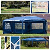 Belleze 10' x 20' feet Large Canopy Tent Wedding Event Gazebo 10x20 Foot Party Tent Side Walls Removable UV, Blue