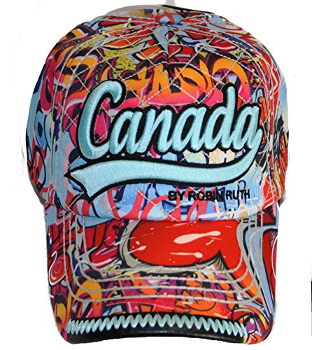 438327459 Robin Ruth Canada Graffiti Baseball Cap Adjustable Hat