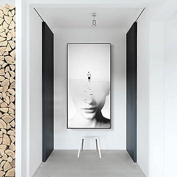 Mural nordique entrée peinture décorative couloir ...