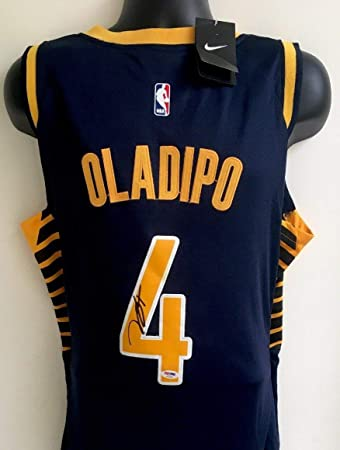 best sneakers 105b9 2c7d9 Victor Oladipo Indiana Pacers Autographed Signed Nike ...
