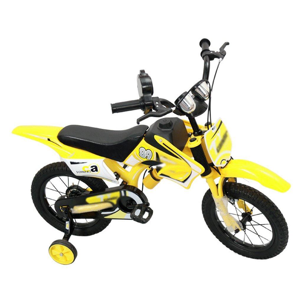 自転車 子供のオート\u200b\u200bバイの形のバイク2-3-5-6-7-8歳の誕生日ギフト男性と女性のための12/14/16/18インチ (サイズ さいず : 18 inch) B07DYGRJL2 18 inch 18 inch