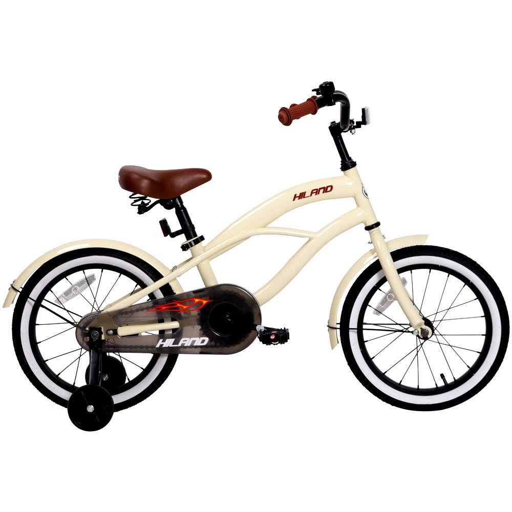 HILAND 14,16 Inch Kids Bike Bicycle with Training Wheels,Kid s Beach Crusier Bike, Multiple Colors