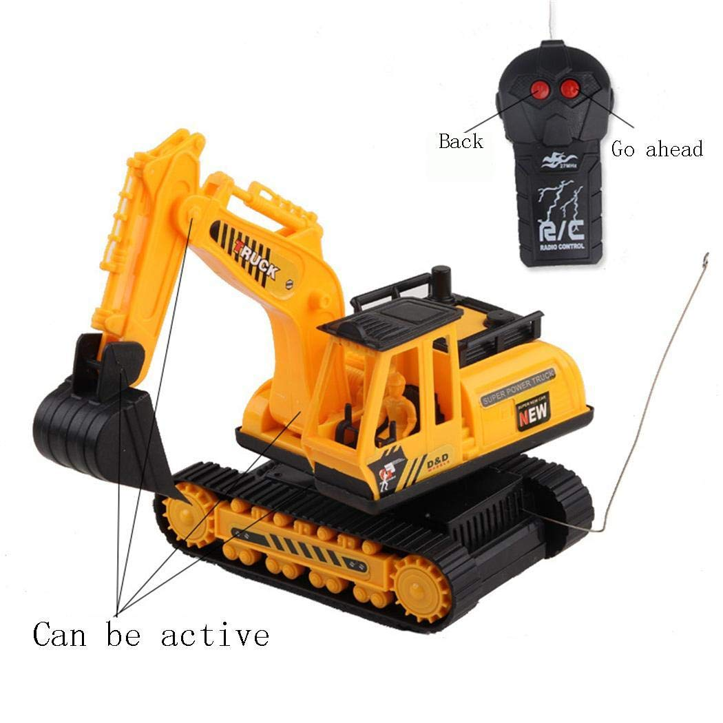Benlet Car Excavator Kids Toy Crawler Digger Electric 2 Channel Remote Control Activity Play Centers