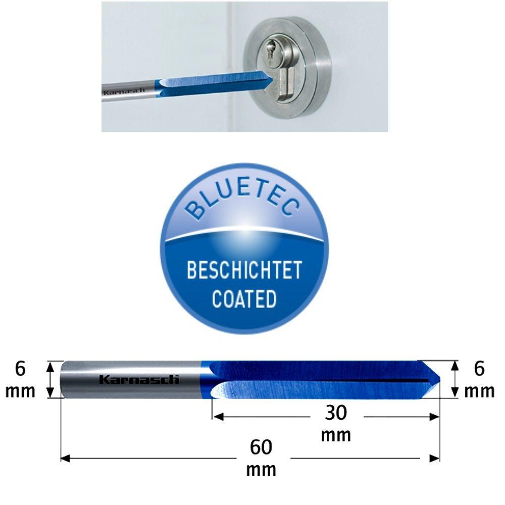 Vollhartmetall Bohrfr/äser f/ür Schl/üsseldienst BLUE-TEC beschichtet Fr/ässtift Zapfenfr/äser Rotationsfr/äser Fr/äser 6 mm