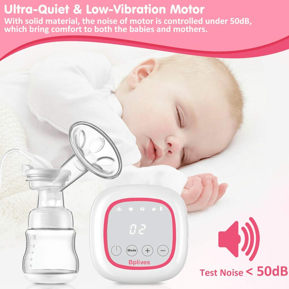 Double Electric Breast Pumps,Opoway Portable Breast Pump Rechargeable Breastfeeding Pump with Adjustable Massage and Suction Level Backflow Protector