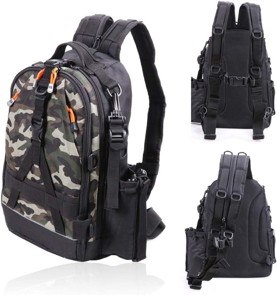 Large Capacity Fishing Backpack Tackle /&Rod Storage Shoulder Bag Outdoor Camping