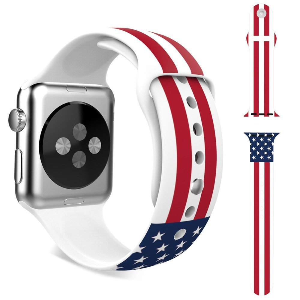 US Nation Flag Color Apple Watch Band