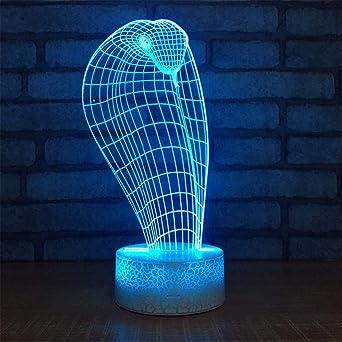 Lámparas de 3D LED cerca de luz, 7 colores, control/control remoto ...