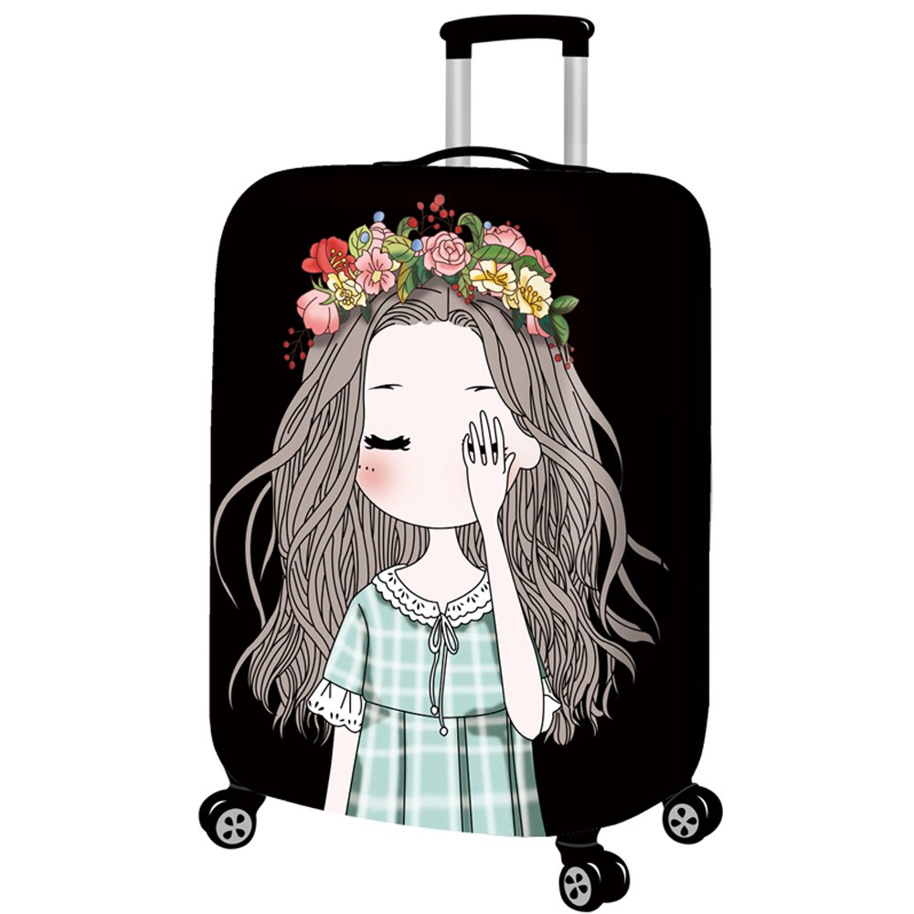 a9856779c93e YEKEYI Luggage Protector Case Washable Travel Cute girl Suitcase Protector  Fits 18-32 Inch