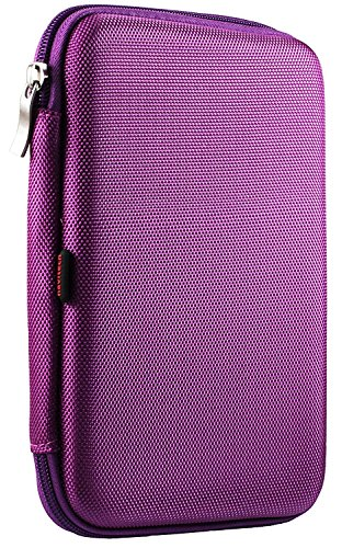 Navitech Purple Hard Protective EVA Case Cover Compatible with The Npole Tablet 8 inch Android 5.1 Cell Phone Tablet