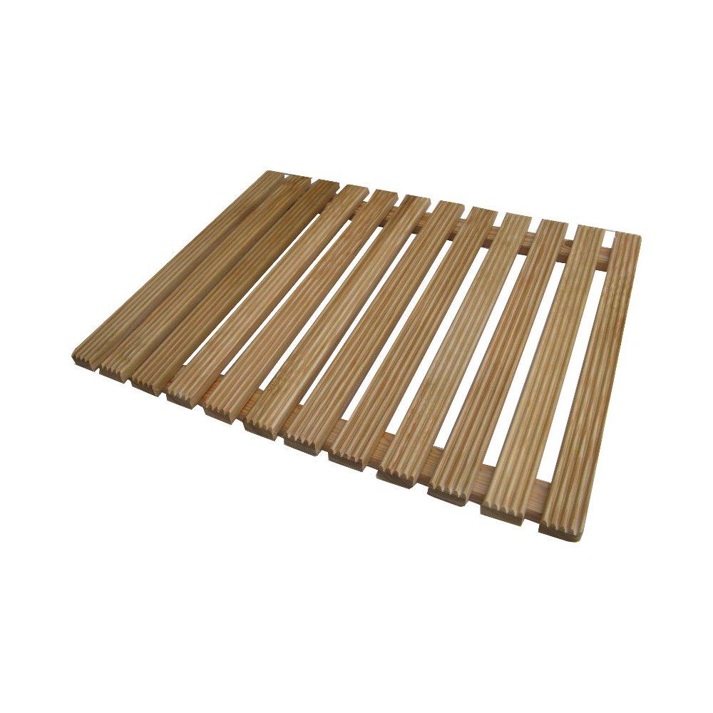 Pedana per bagno in legno di larice 55 x 69 cm Onlywood