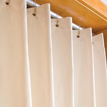 Amazon.com: LIFEKIND Certified Organic Cotton Canvas Shower Curtain ...
