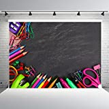 7x5ft Chalkboard Photo Backdrop Vinyl Back to School Background for Photography Baby Shower