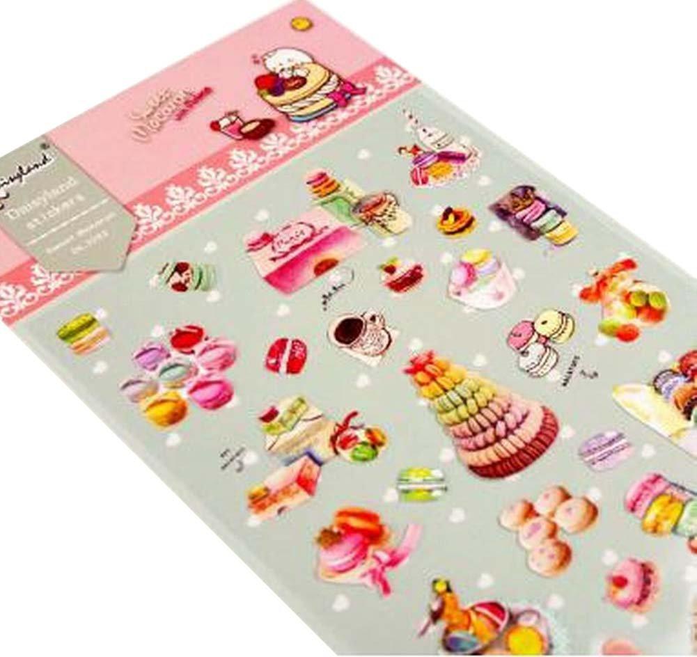5 feuilles de bricolage autocollants décoratifs Craft Scrapbook Stickers Macaron Blancho Bedding