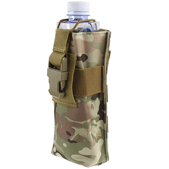 Tactical Military Molle Radio Walkie Talkie Belt Pouch Bag Water Bottle Bags