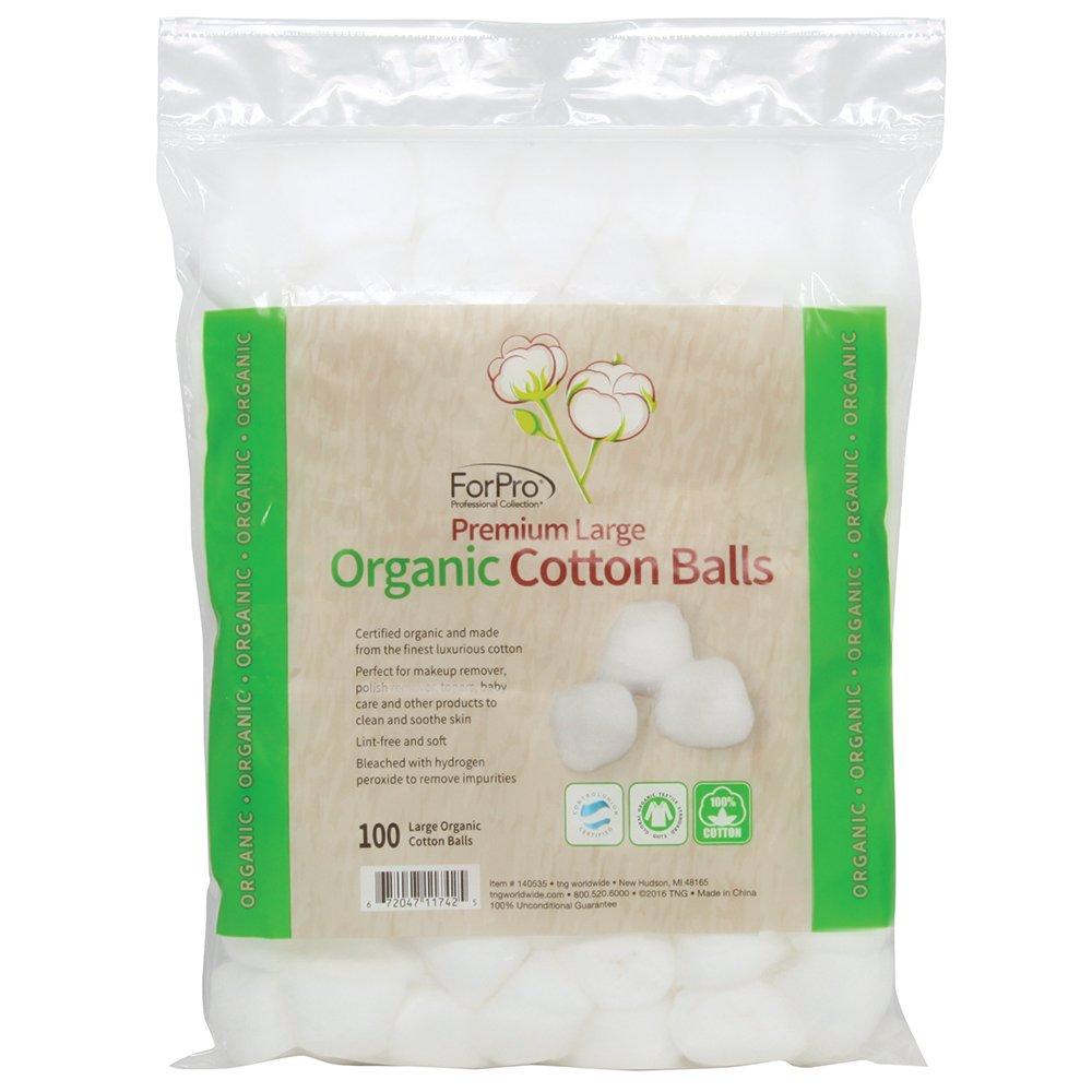 Premium Organic Large Cotton Balls 100-ct. 3-pk