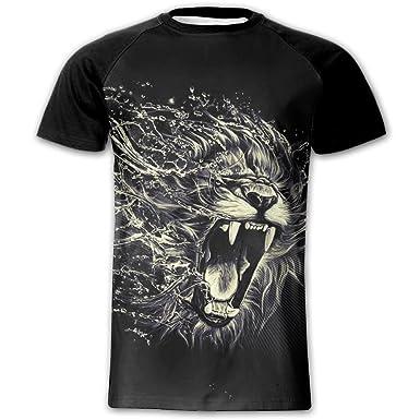 932801454 Amazon.com: Roaring Lion Man 3D Print T-Shirt Tee Shirts Youth Adult ...