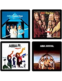 Want Abba Coaster Collection- (4) Different Album Covers Reproduced Onto Soft, Absorbent, Collectible Coasters - by... save