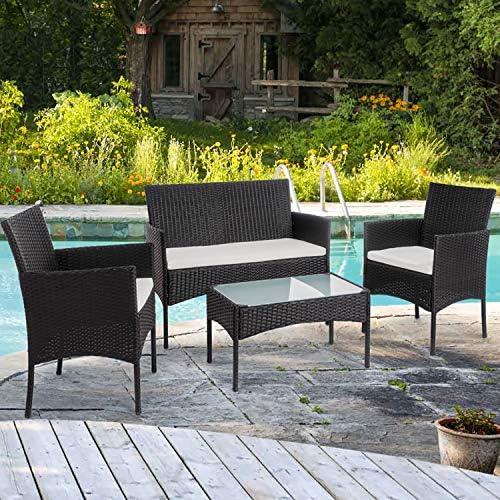 Shintench 4 Piece Outdoor Patio Furniture Set