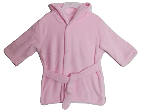 d8f89f6481 Soft Touch Baby Girls Bunny Ears Pink Dressing Gown with Hood ...