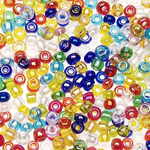 Darice Glass Seed Beads: Multicolor, Crystal, 2-Cut