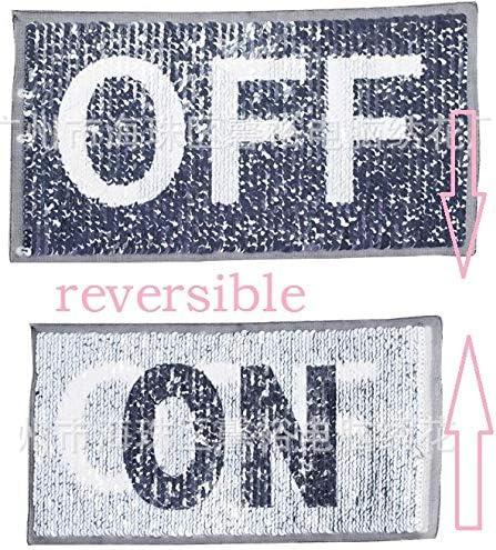 lightning reversible change color sequins sew on patch for clothes DIY appliqu*
