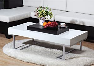 Contemporary Style Sophisticated Coffee Table, White