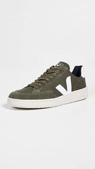 Veja Men's V-12 Mesh Sneakers, Olive