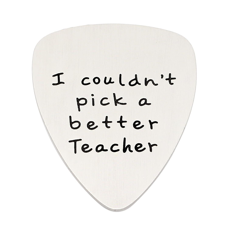 Profesor Regalos I Couldn t Pick a Mejor Profesor p/úa de Guitarra Acero Inoxidable de graduaci/ón de Vuelta a la Escuela
