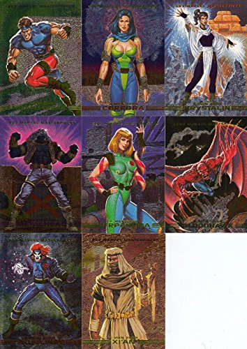 - MARVEL MASTERPIECES 1993 FLEER/SKYBOX DYNA ETCH FOIL INSERT CHASE CARD SET OF 8 S-1 TO S-8