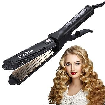 Amazon.com: Alisador de cabello, profesional rizador de ...