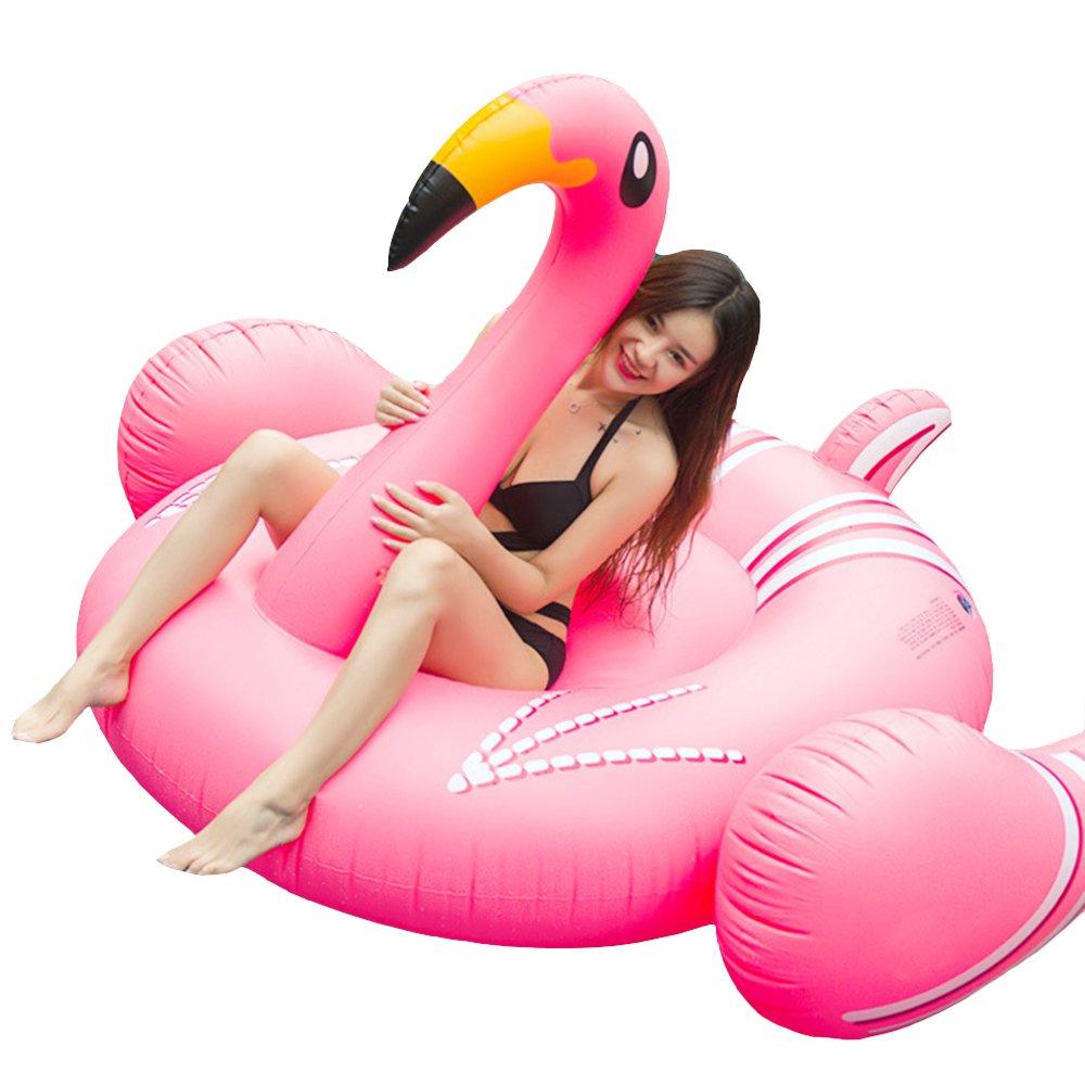 AJON 74 Pulgadas Gigante Inflable Boca Amarilla Flamingo Swim Ring Pool Flotador Al Aire Libre Juguete De La Playa Ocioso para La Natación 190Cm: Amazon.es: ...