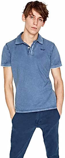 Pepe Jeans Polo Hombre PM540993 Fra Azul: Amazon.es: Ropa y ...