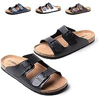Sandalias Hombre Chanclas Piel Sintético Zapatos Verano Sandalias de Corcho Zapatillas de Casa Punta Abierta Piscina…