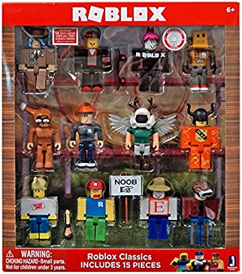Amazon Com Roblox Series 1 Classics 12 Figure Pack Includes - roblox toys on amazon