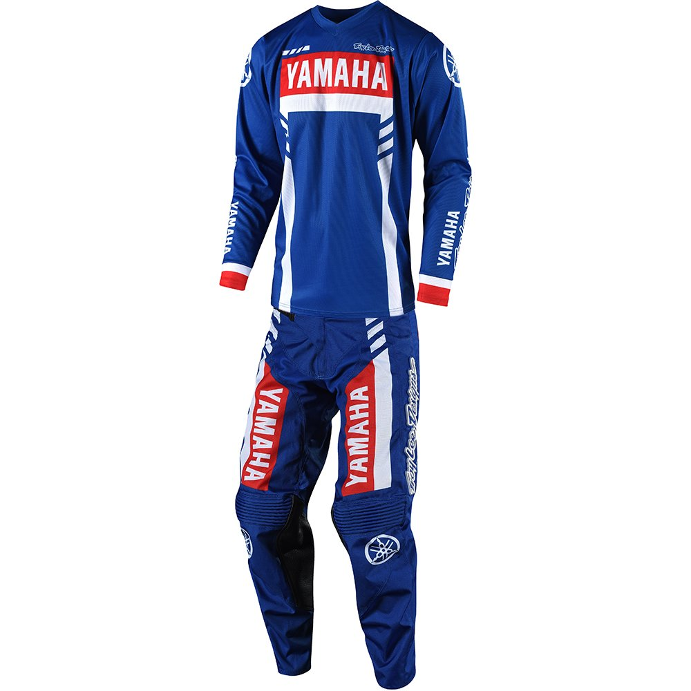 Troy Lee Designs GP Yamaha RS1 Jersey and Pant Combo - Blue (Jersey X-Large/Pant 34W)