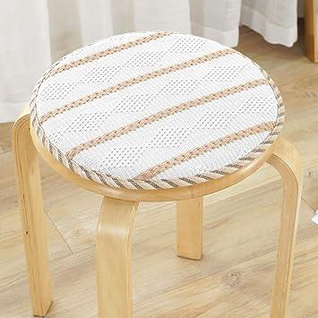 Amazon.com: Cojín para silla de comedor con correas de lino ...