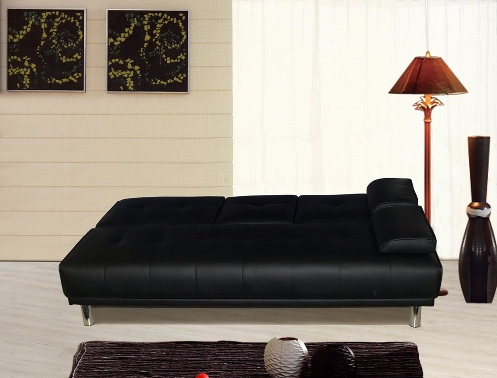 Manhattan 3 Seater Sofa Bed With Cup Holders Black By Sleep Design:  Amazon.co.uk: Kitchen U0026 Home