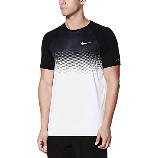 d8774b1a52126 Nike NESS8541 Men's Fade Mist Short Sleeve Hydroguard at Amazon ...