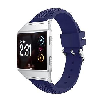 Para Fitbit Ionic reloj elegante correa de, nuevo Fashion Y56 ligero neumático patrón deportes silicona